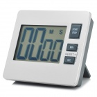 "2.8"" Screen Digital Kitchen Aluminum + Plastic Timer w/ Stand - Grey + Silver (1 x AAA)"
