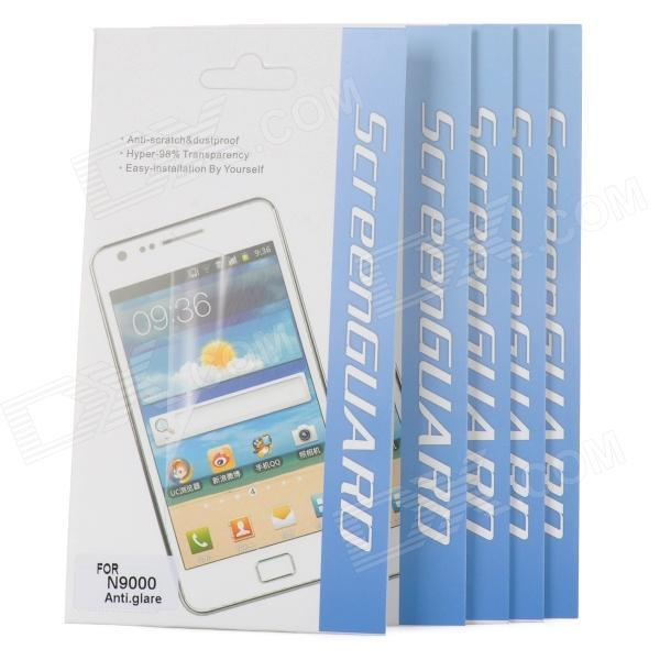 Protective Matte Screen Protector for Samsung Galaxy Note 3 N9006 / N9005 - Transparent (5 PCS) - DXScreen Protectors<br>Brand N/A Model N/A Material PET Color Transparent Quantity 5 Piece Compatible Models Samsung Galaxy Note 3 N9006 / N9005 / N9002 / N9000 Screen Type Matte Other Features Protects your device screen from scratches and dust Packing List 5 x Screen films 5 x Cleaning cloths<br>
