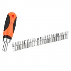 W-2927Z Convenient Stainless Steel + Plastic Screw Driver Handle + Screwdrivers Tool Set - Orange