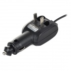 HG-1206CS 2-in-1 600mA Car Cigarette Lighter Charger w/ Charging Dock Station - Black