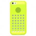 Hollow-Out Round Holes Style Protective TPU Back Case for iPhone 5 / 5s - Yellow