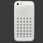 Hollow-Out Round Holes Style Protective TPU Back Case for iPhone 5 / 5s - White