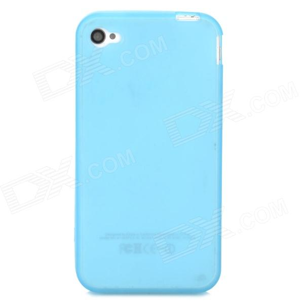 S-What Glow-in-the-Dark Protective TPU Back Case for Iphone 4 / 4s - Translucent Blue girl pattern glow in the dark protective tpu back case for iphone 4 4s white light pink