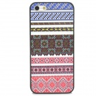 Relief Tribal Ethnic Style Protective PC Back Case for iPhone 5 - Blue + White + Red