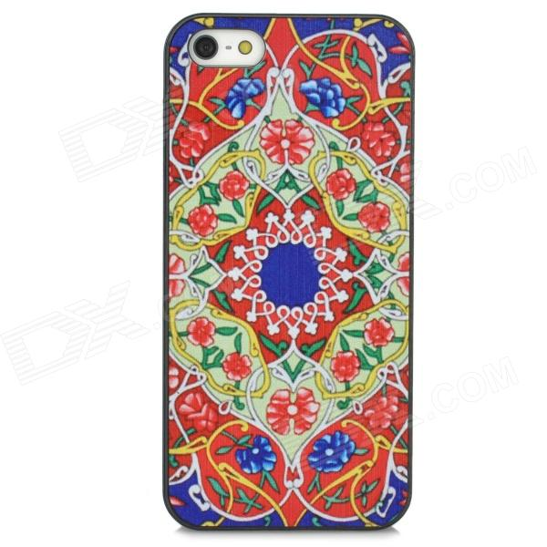 Relief Tribal Ethnic Style Protective PC Back Case for Iphone 5 - Red + Blue + Green relief tribal ethnic style protective plastic back case for iphone 4 blue white red