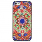 Relief Tribal Ethnic Style Protective PC Back Case for Iphone 5 - Red + Blue + Green
