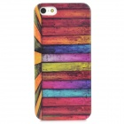 Colorful Wood Style Protective Plastic Back Case for iPhone 5 - Multicolor