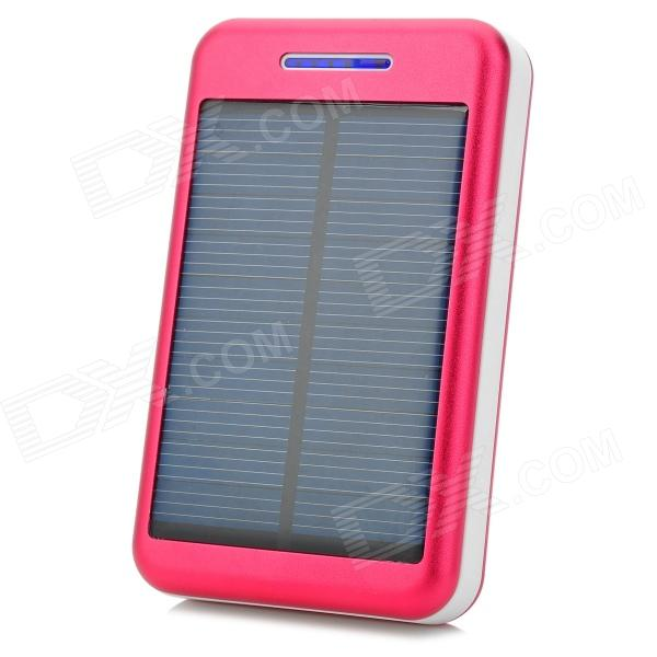 S-What Universal 5V 13800mAh Li-ion Polymer Battery Solar Power Charger - Red + White s what universal portable 5v 2000mah li ion battery power bank white