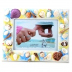 Rectangle Shaped Seashell Photo Frame