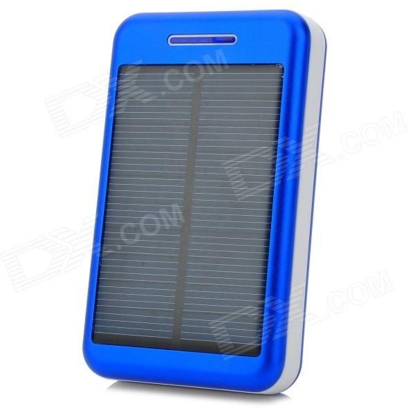 S-What Universal 5V 13800mAh Li-ion Polymer Battery Solar Power Charger - Blue + White s what universal portable 5v 2000mah li ion battery power bank white