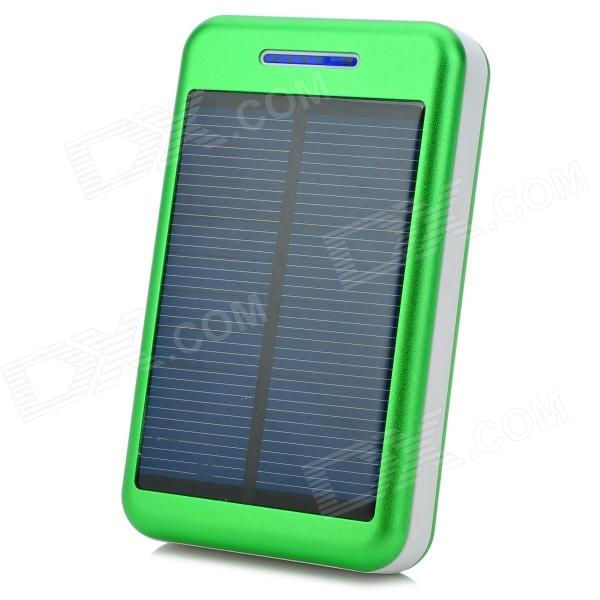 S-What Universal 5V 13800mAh Li-ion Polymer Battery Solar Power Charger - Green + White s what universal portable 5v 2000mah li ion battery power bank white