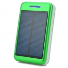 "S-What Universal 5V ""13800mAh"" Li-ion Polymer Battery Solar Power Charger - Green + White"