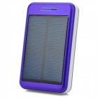 "S-What Universal 5V ""13800mAh"" Li-ion Polymer Battery Solar Power Charger - Purple + White"