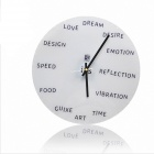 Fashion Creative Wall Clock - White (1 x AA)