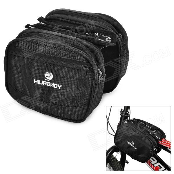 Yongruih GB003 Stylish Bicycle Front Tube Bag - Black