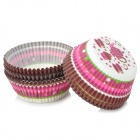 Jiahui Grease-Proof Paper Cup Cake Tray for Cupcake - White + Black + Multi-Colored