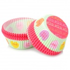 Jiahui Grease-Proof Paper Cup Cake Tray for Cupcake - Green + Red + Multi-Colored