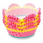 Grease-proof Paper Cake Tray Cups - Yellow + Pink + Multi-Colored