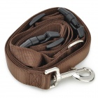 Nylon Retractable Pet Dog Leash - Brown