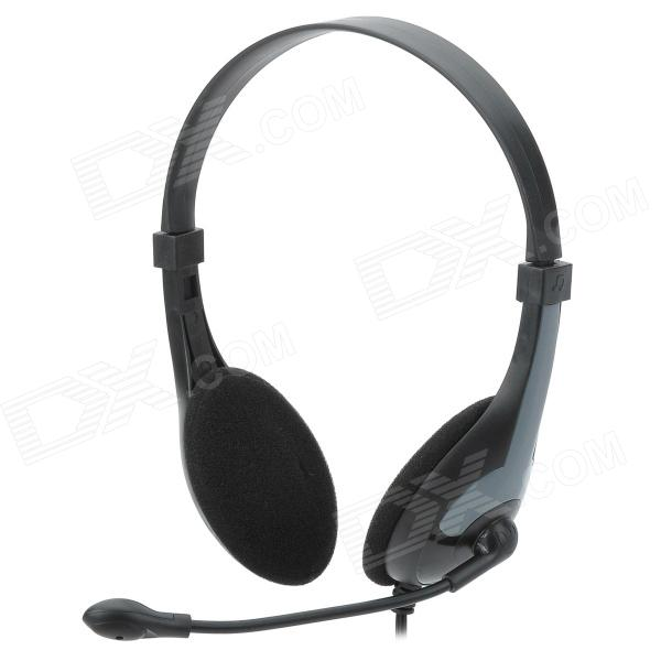 LOTONG LH610 Stereo Headphone w/ Mic - Black + Grey