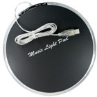 USB Music and Dancing Light Pad with 1-port USB Hub