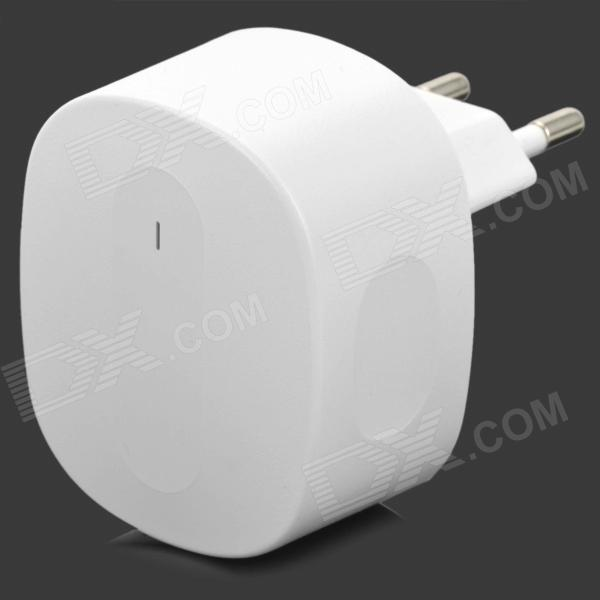 AC Charging Adapter Charger w/ Dual USB for Iphone / Ipad / Ipod / Samsung / HTC - White (EU Plug) universal 4 port usb 5v 2 1a ac power charger adapter for iphone samsung htc white eu plug
