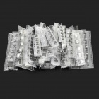 35V/470UF Electrolytic Capacitor for DIY Project - Silver + Black (150 PCS)