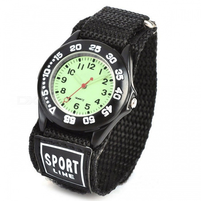 Sports Zinc Alloy Case Nylon Velcro Band Quartz Analog Wrist Watch for Kids - Black + MulticoloredChildren Watches<br>Form ColorBlack + MulticolorQuantity1 DX.PCM.Model.AttributeModel.UnitCasing MaterialZinc alloyWristband MaterialNylon velcro beltSuitable forChildrenGenderUnisexStyleWrist WatchTypeSports watchesDisplayAnalogMovementQuartzDisplay Format12 hour formatWater ResistantFor daily wear. Suitable for everyday use. Wearable while water is being splashed but not under any pressure.Dial Diameter3.2 DX.PCM.Model.AttributeModel.UnitDial Thickness0.8 DX.PCM.Model.AttributeModel.UnitWristband Length24.5 DX.PCM.Model.AttributeModel.UnitBand Width2.5 DX.PCM.Model.AttributeModel.UnitBattery1 x SR626SW (included)Packing List1 x Wrist watch<br>