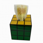 Anya D640 Magic Cube Tissue Box - Black + Yellow + Green