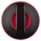 LX-Q3 UFO Style Bluetooth v2.1 Bass Stereo Speaker w/ Hands-Free / Microphone - Black + Red