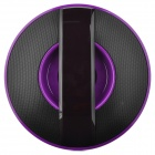 LX-Q3 UFO Style Bluetooth v2.1 Bass Stereo Speaker w/ Hands-Free / Microphone - Black + Purple
