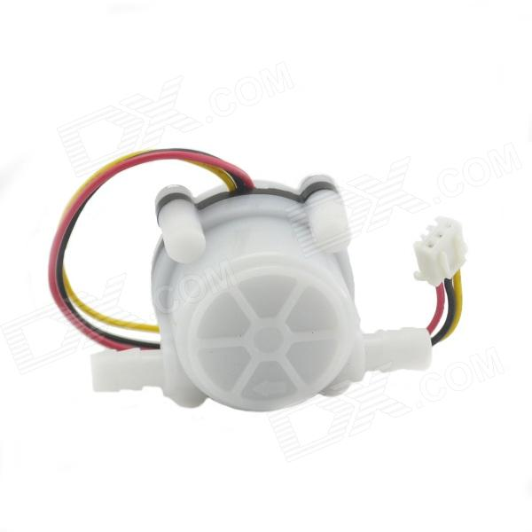 HS08 PVC Water Flow Hall Sensor Flowmeter / Counter - White 20 6mm impeller water flow sensor fluid flowmeter switch counter 1 30l min meter