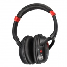 Kubite K-898 Bluetooth V3.0+EDR Stereo Headphone w/ Micro SD Card Slot / FM - Black + Red