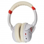 Kubite K-898 Bluetooth V3.0+EDR Stereo Headphone w/ Micro SD Card Slot / FM - White + Red