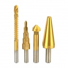 YaoSheng HSS4241 Chamfer / Step /Tapered Cone /Saw High-speed Steel Drill Bit - Golden + Silver