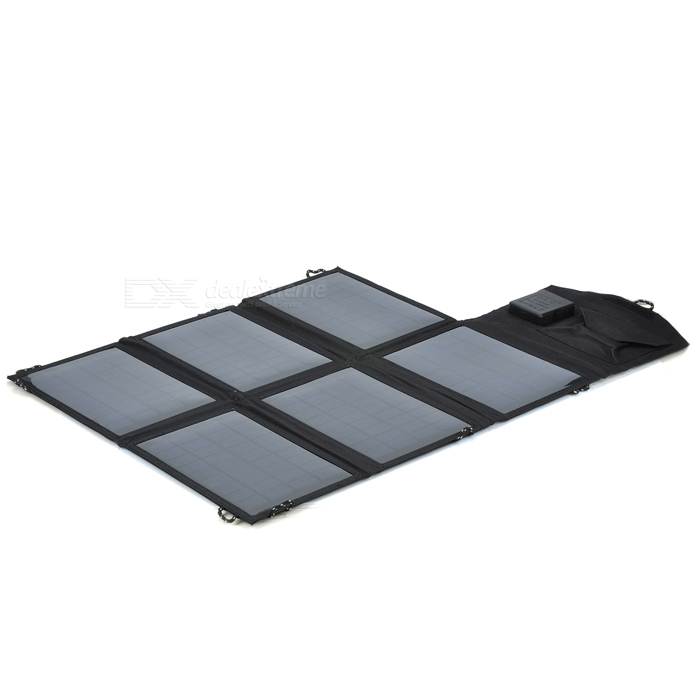 LX-021 21W 5V / 18V Dual-Output Folding Solar Charger Set for Laptop - Black