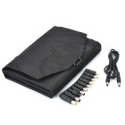 LX-021 21W 5V / 18V Dual-utgang falsing Solar Charger Set for Laptop - svart