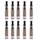 ECT CE4+ Electronic Cigarette Round Mouth Atomizer with Scale - Black (10 PCS)