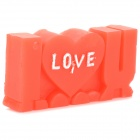 """I LOVE U"" Style Vegetable Waxes Romantic Decorative Candle - Red + White"