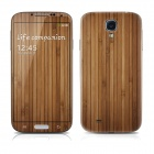 PAG Front Screen + Back Skin Protector Stickers for Samsung Galaxy S4 i9500 - Wood