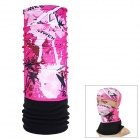 NUCKILY  PH07 Outdoor Fleece Polyester Fiber Headscarf - Pink + Black