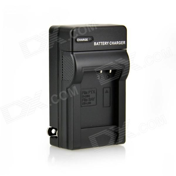 DSTE DB-L80 D-LI88 Battery charger for Sanyo VPC-CG10 CG100 GH3 GH4 Pentax Optio H90 P70 W90 WS80
