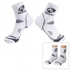 NUCKILY PF02 Cycling Thicken Quick-drying Stockings - White + Black