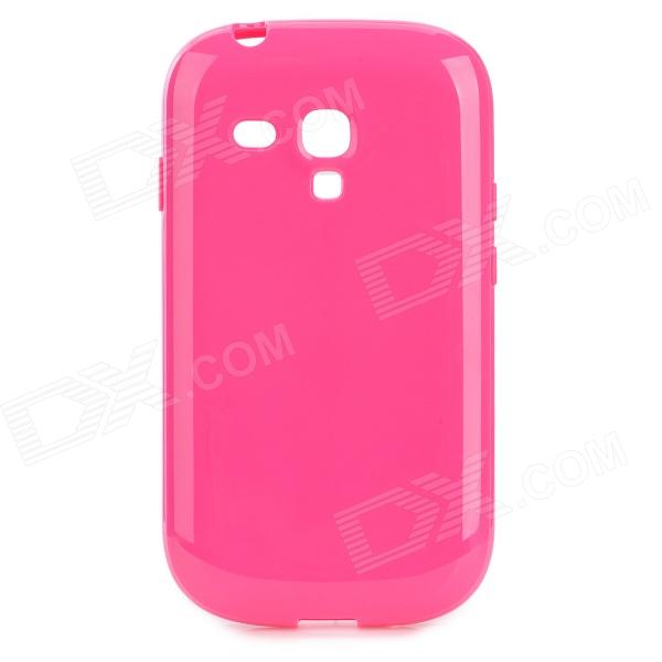 Protective TPU Back Case for Samsung Galaxy S3 Mini i8190N / i8190 / i8160 - Deep Pink stylish protective back case for samsung i8190 galaxy s3 mini yellow translucent