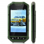 "A1 3.4"" Dual-Core GSM Bar Phone w/ Bluetooth / Wi-Fi / Camera - Black + Deep Green"