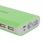 DIY 5 x 18650 Mobile Power Bank w/ Indicator / Dual USB - Green