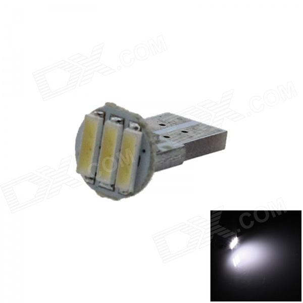 T10 / 168 / W5W 0.3W 50lm 3 x SMD 7020 LED White PCB Car Instrument lamp / Side Light - (12V)