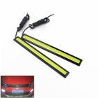 Impermeable 200lm 5W LED del coche blanco Daytime Running Light Strip - (12V / 17cm / 2 PCS)