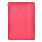 Schutz 3-Section Folding PU Leder Case w / Auto-Sleep für Ipad AIR - Red