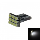 T10 / 159 / 280 / W5W 0.5W 80lm 9 x SMD 1206 LED White PCB Car Instrument lamp / Side Light - (12V)